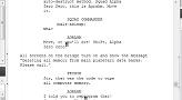 A snippet of the script