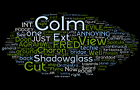 A tag cloud of the script